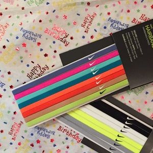 Nike Headbands - 1 set of 8 multi colored bands
